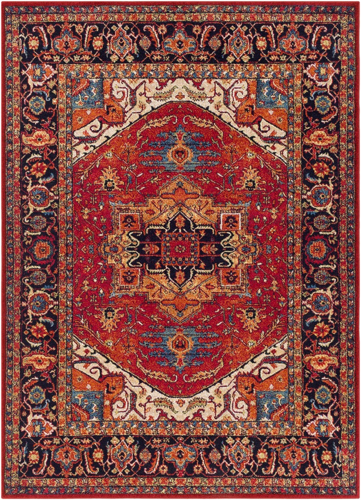 Rectangle Multicolor Traditional/oriental Machine Made Synthetics Traditional & Oriental recommended for Kitchen, Bedroom, Bathroom, Dining Room, Office, Hallway, Living Room