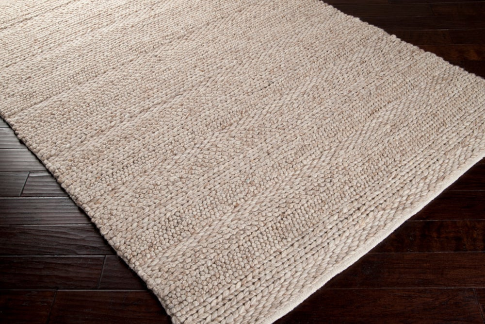 Rectangle 12x15 Tan Solid Hand Woven Wool Contemporary recommended for Bedroom, Bathroom, Dining Room, Office, Hallway, Living Room