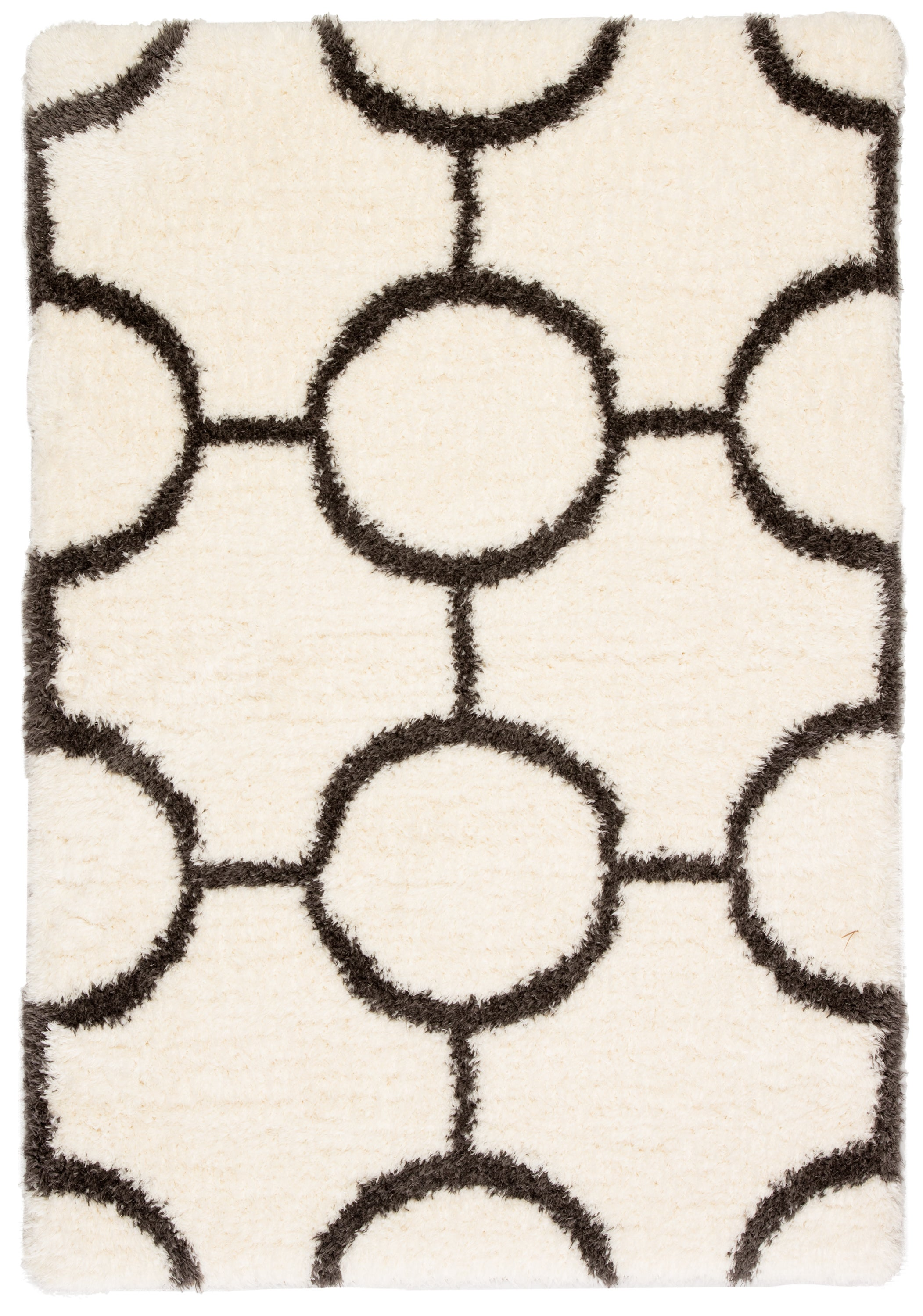 Rectangle Brown Geometric Shag Synthetics Shag recommended for Bedroom, Bathroom, Dining Room, Office, Hallway, Living Room