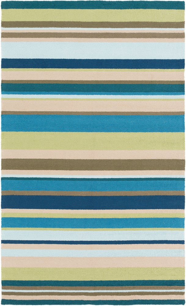 Rectangle, Round Blue Striped Hand Hooked Synthetics Casual recommended for Kitchen, Bedroom, Bathroom, Dining Room, Patio, Office, Hallway, Living Room