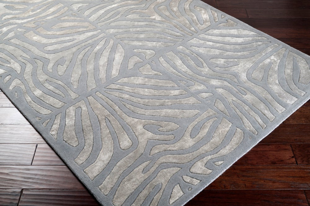 Rectangle Gray Animal Print Hand Tufted Blends Contemporary recommended for Kitchen, Bedroom, Bathroom, Dining Room, Office, Hallway, Living Room