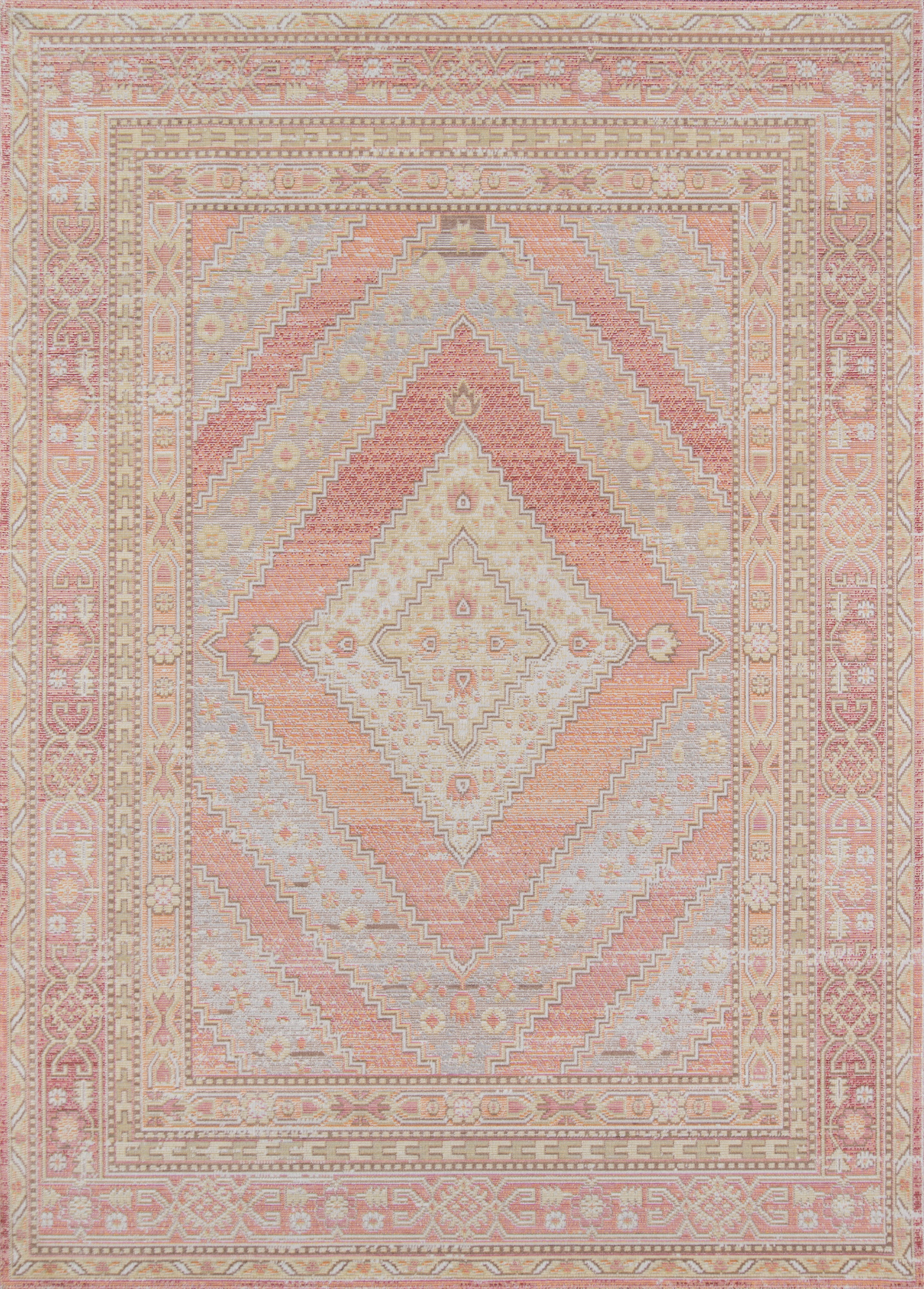 Rectangle Pink Geometric Machine Made Synthetics Traditional & Oriental recommended for Kitchen, Bedroom, Bathroom, Kids, Dining Room, Office, Hallway, Living Room