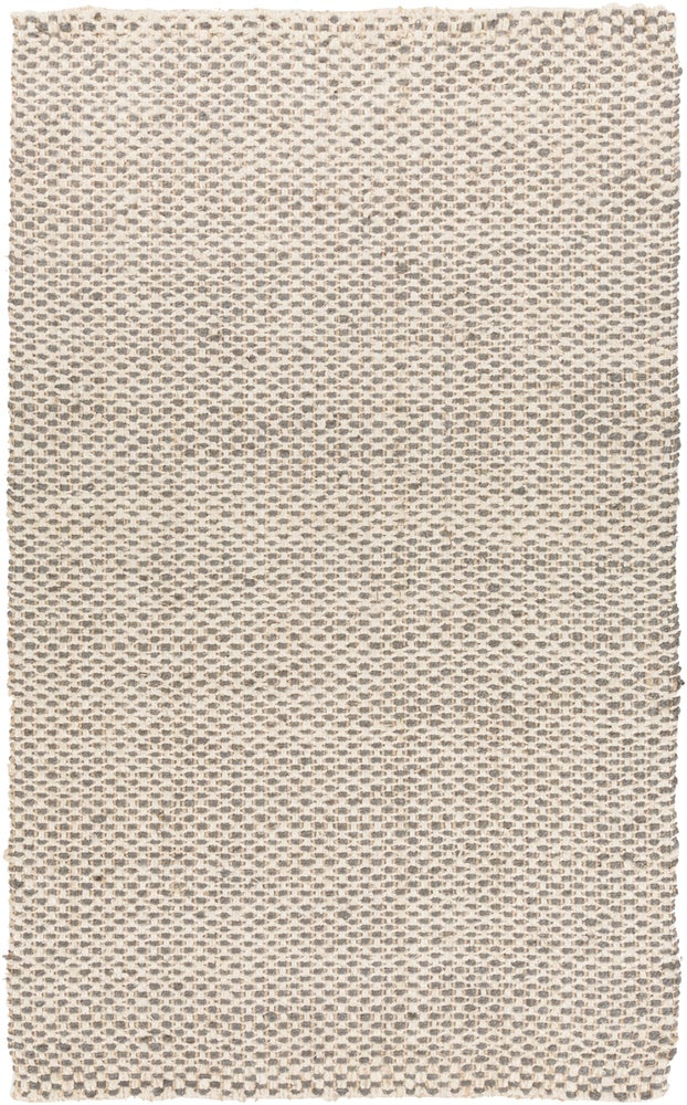 Rectangle 6x9 Gray Solid Hand Woven Jute & Natural Fibers Casual recommended for Bedroom, Bathroom, Dining Room, Office, Hallway, Living Room