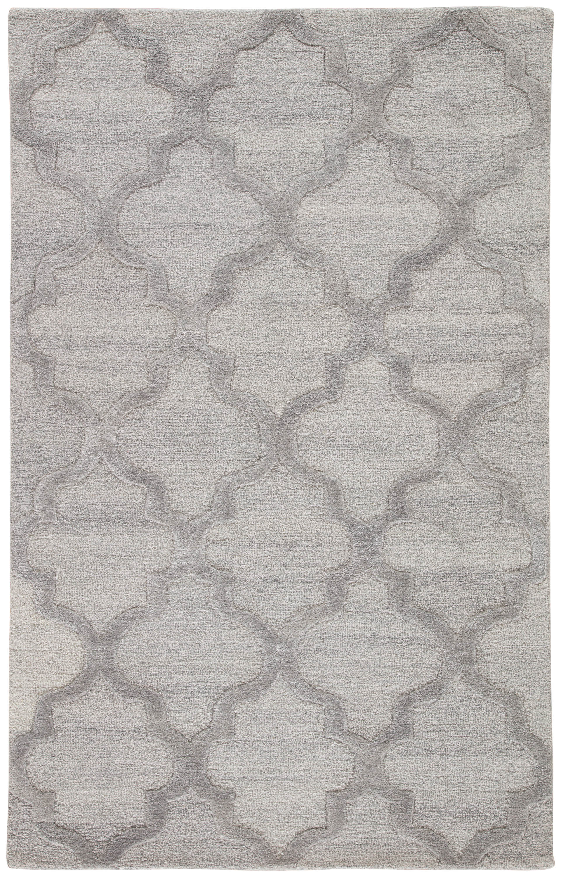 Rectangle, Round, Square Gray Trellis Hand Tufted Blends Persian & Moroccan recommended for Kitchen, Bedroom, Bathroom, Dining Room, Office, Hallway, Living Room