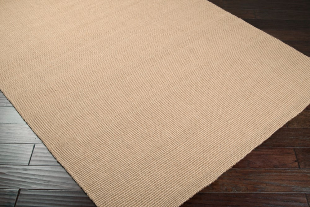 Rectangle 12x15 Beige Solid Hand Woven Jute & Natural Fibers Casual recommended for Bedroom, Bathroom, Dining Room, Office, Hallway, Living Room