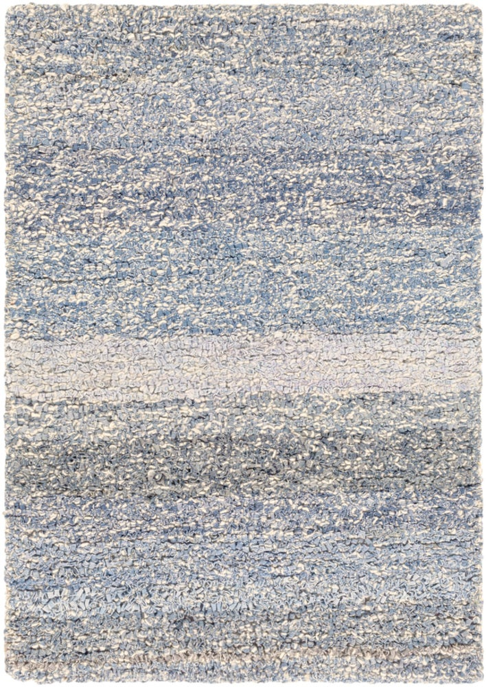 Rectangle, Round Darkblue Striped Hand Hooked Blends Casual recommended for Kitchen, Bedroom, Bathroom, Dining Room, Office, Hallway, Living Room