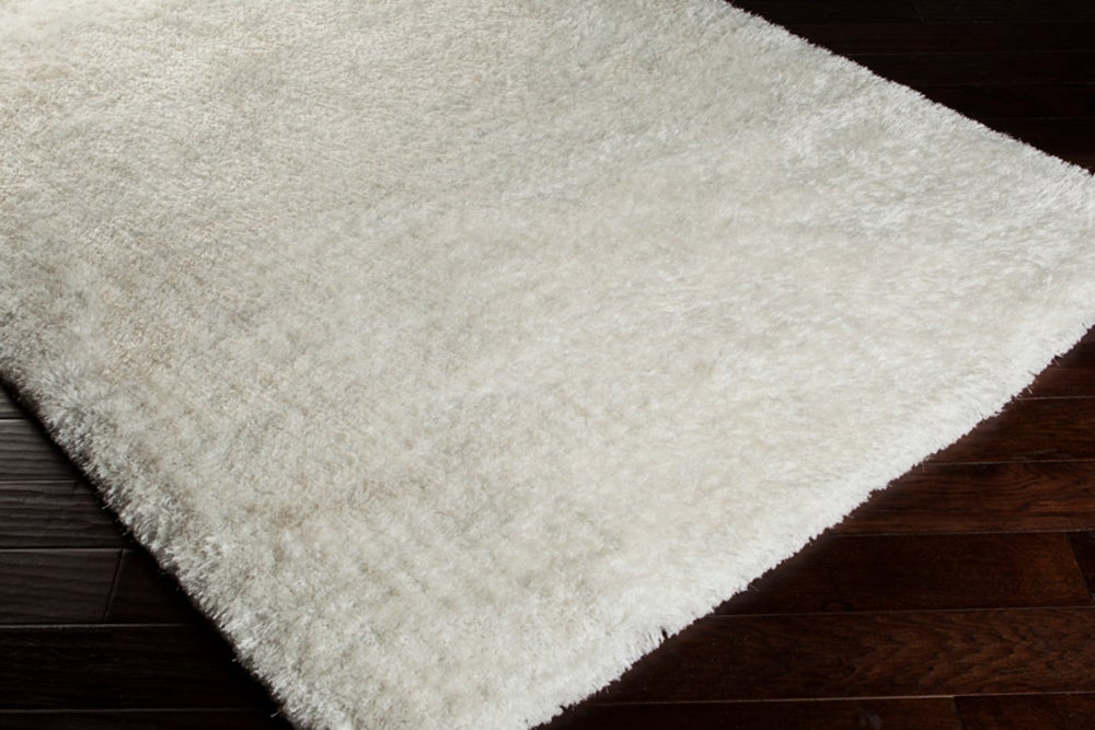 Rectangle 12x15 White Solid Hand Woven Synthetics Shag recommended for Bedroom, Bathroom, Dining Room, Office, Hallway, Living Room
