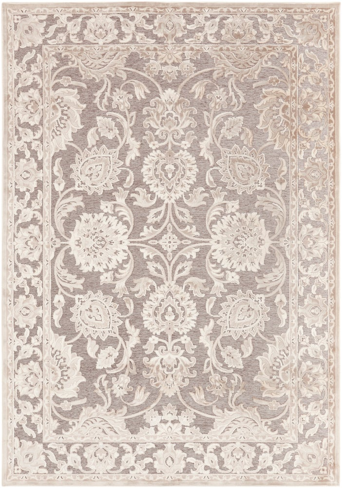 Rectangle Gray Traditional/oriental Machine Made Blends Traditional & Oriental recommended for Bedroom, Bathroom, Dining Room, Office, Hallway, Living Room