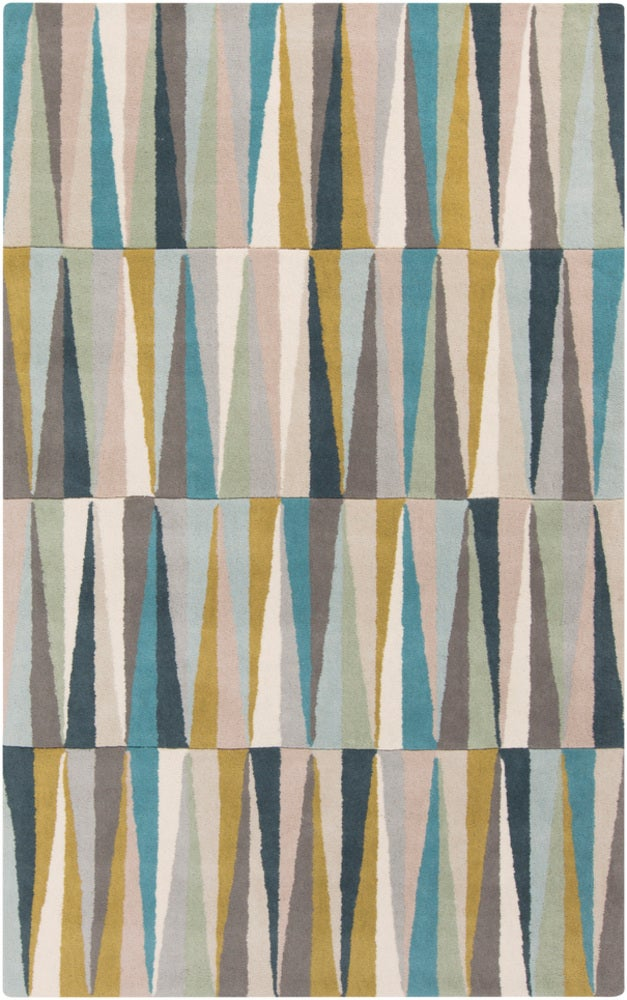 Rectangle 33x53 Multicolor Geometric Hand Tufted Wool Modern recommended for Kitchen, Bedroom, Bathroom, Dining Room, Office, Hallway, Living Room