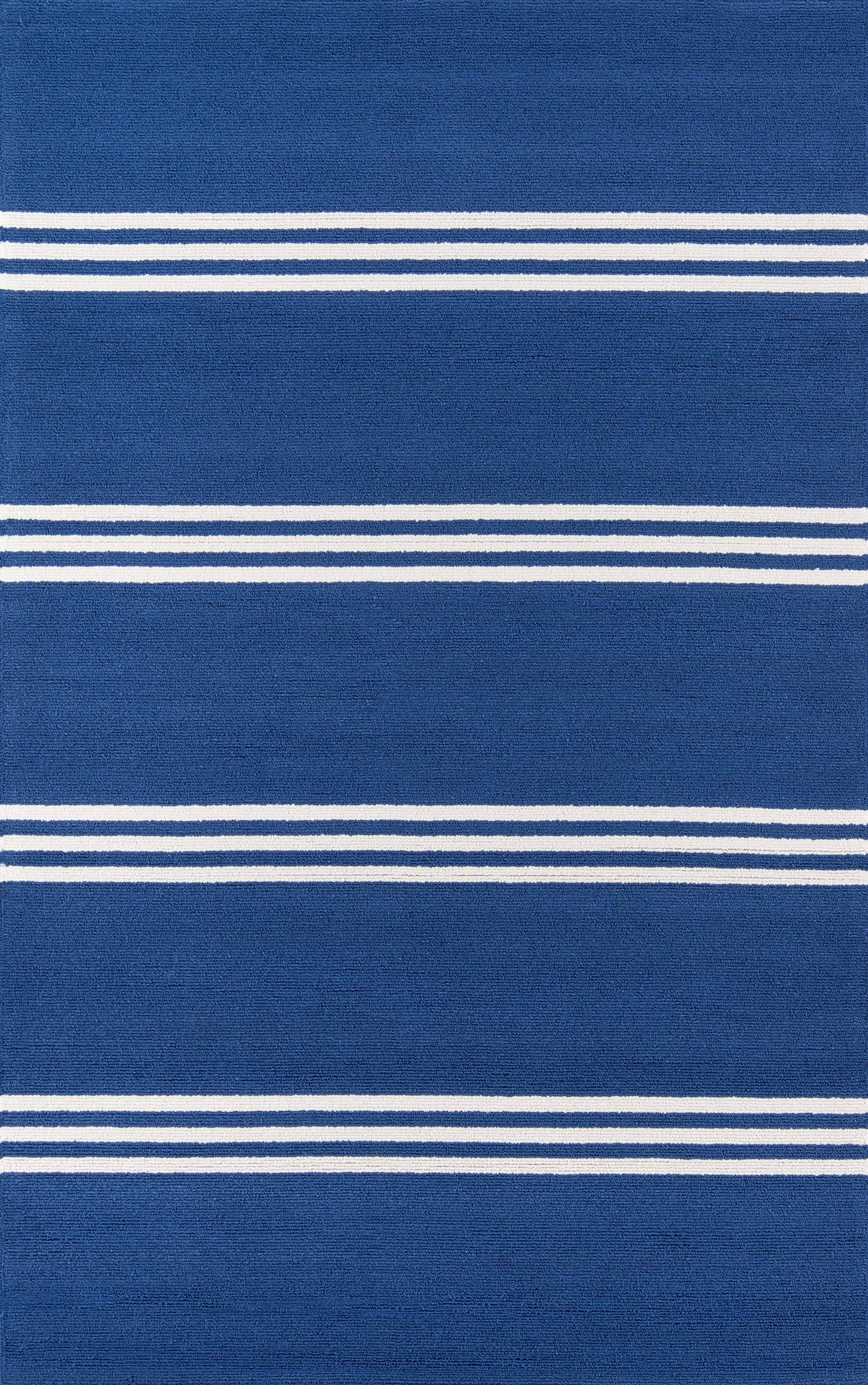 Rectangle, Round Blue Striped Hand Hooked Synthetics Contemporary recommended for Bedroom, Bathroom, Outdoor, Dining Room, Office, Hallway, Living Room