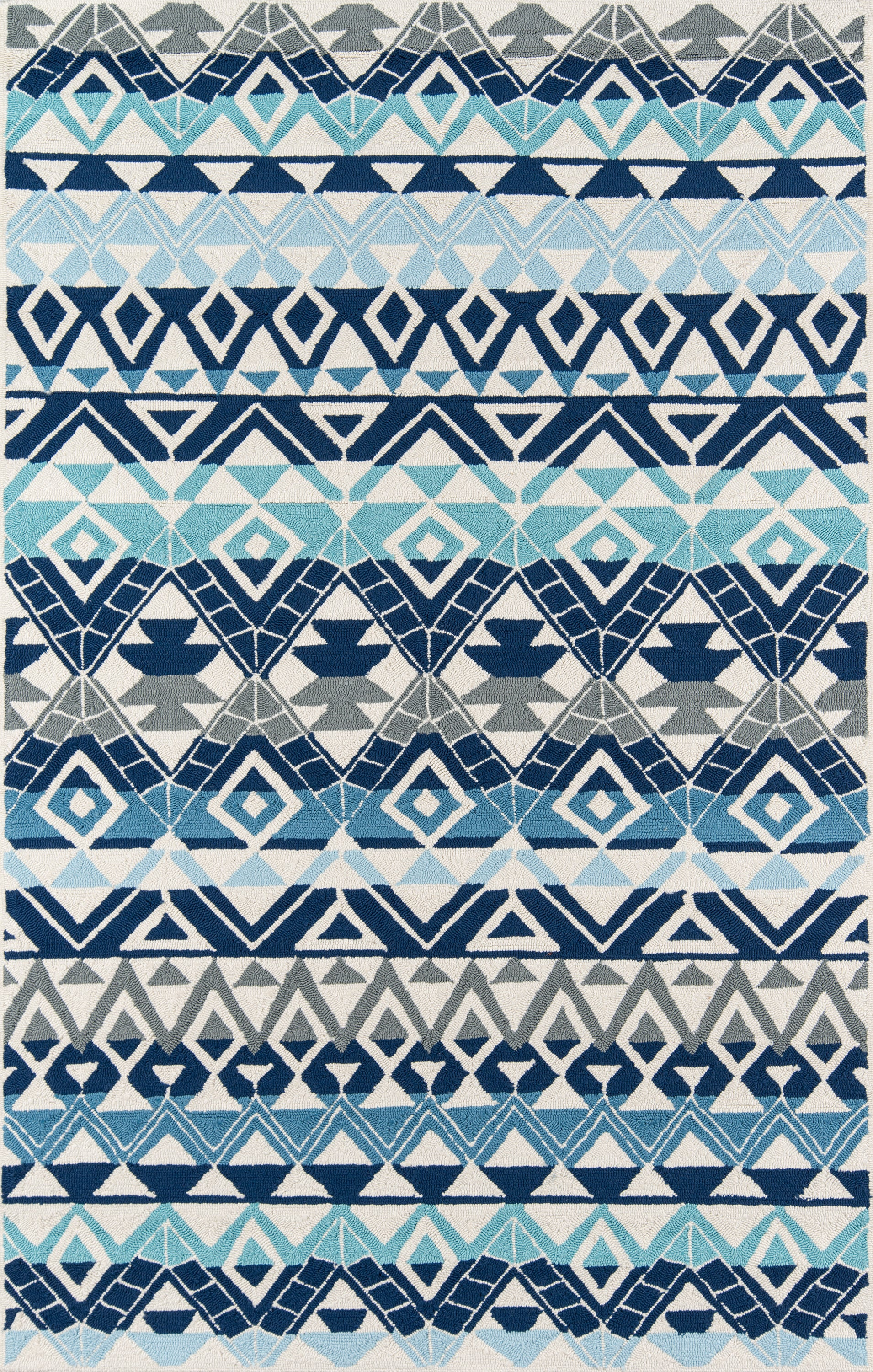 Rectangle, Round Blue Geometric Hand Hooked Synthetics Transitional recommended for Bedroom, Bathroom, Outdoor, Dining Room, Office, Hallway, Living Room