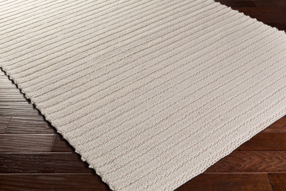 Rectangle White Solid Hand Woven Blends Casual recommended for Kitchen, Bedroom, Bathroom, Dining Room, Office, Hallway, Living Room