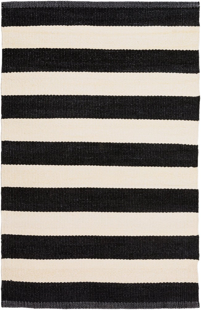 Rectangle Black Striped Hand Woven Synthetics Casual recommended for Kitchen, Bedroom, Bathroom, Dining Room, Patio, Office, Hallway, Living Room