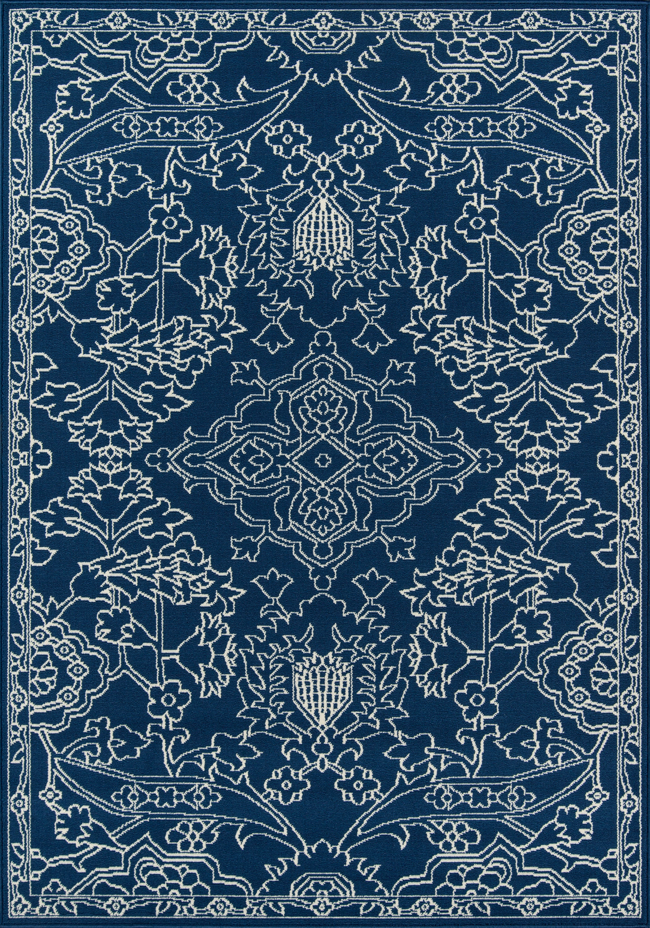 Rectangle Blue Floral Machine Made Synthetics Traditional & Oriental recommended for Kitchen, Bedroom, Bathroom, Outdoor, Dining Room, Office, Hallway, Living Room