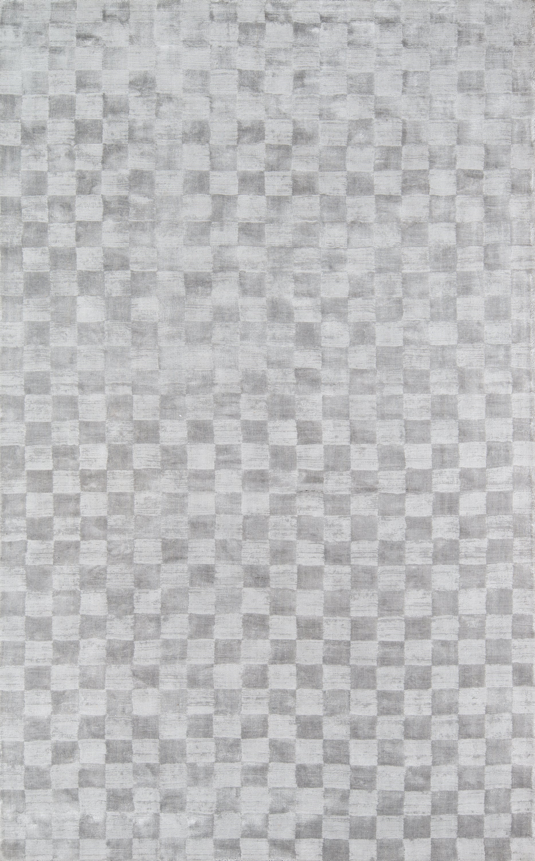 Rectangle 96x136 Gray Checkered Hand Tufted Jute & Natural Fibers Modern recommended for Bedroom, Living Room, Dining Room, Office