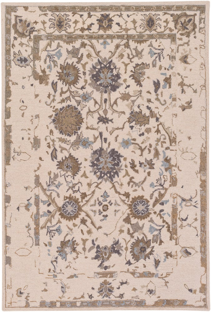 Rectangle Lightbrown Traditional/oriental Hand Hooked Wool Updated Traditional recommended for Kitchen, Bedroom, Bathroom, Dining Room, Office, Hallway, Living Room