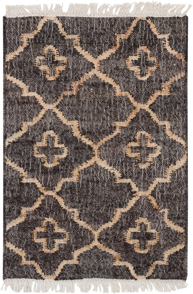 Rectangle Black Geometric Hand Woven Jute & Natural Fibers Casual recommended for Kitchen, Bedroom, Bathroom, Dining Room, Office, Hallway, Living Room