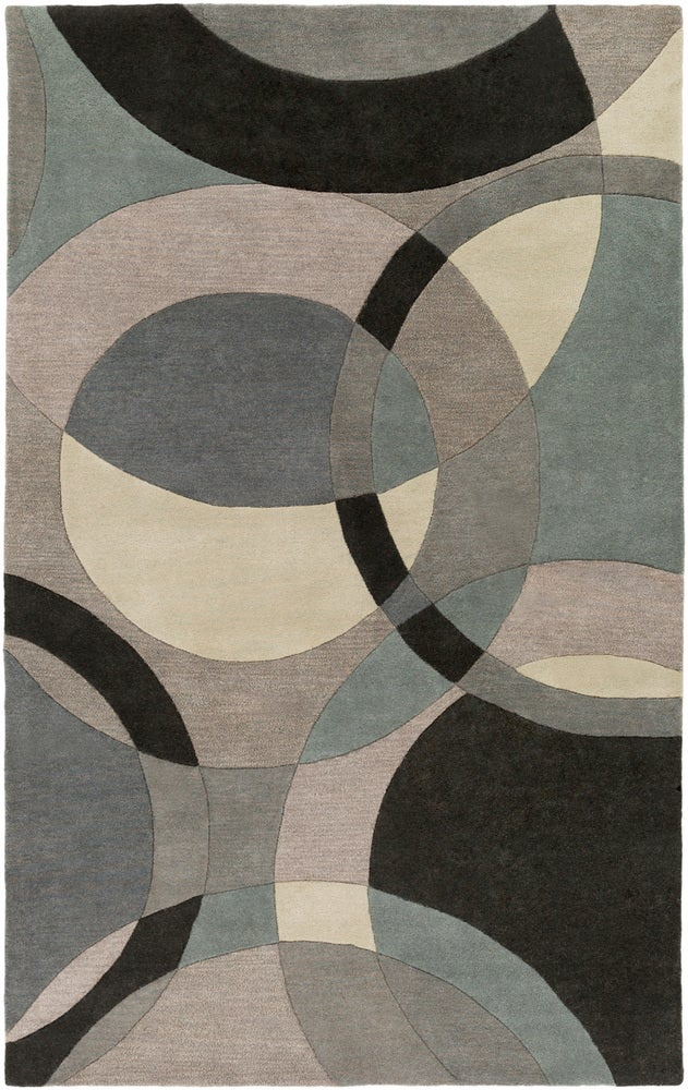 Rectangle, Square, Round, Kidney 6x9 Gray Abstract Hand Tufted Wool Modern recommended for Kitchen, Bedroom, Bathroom, Dining Room, Office, Hallway, Living Room