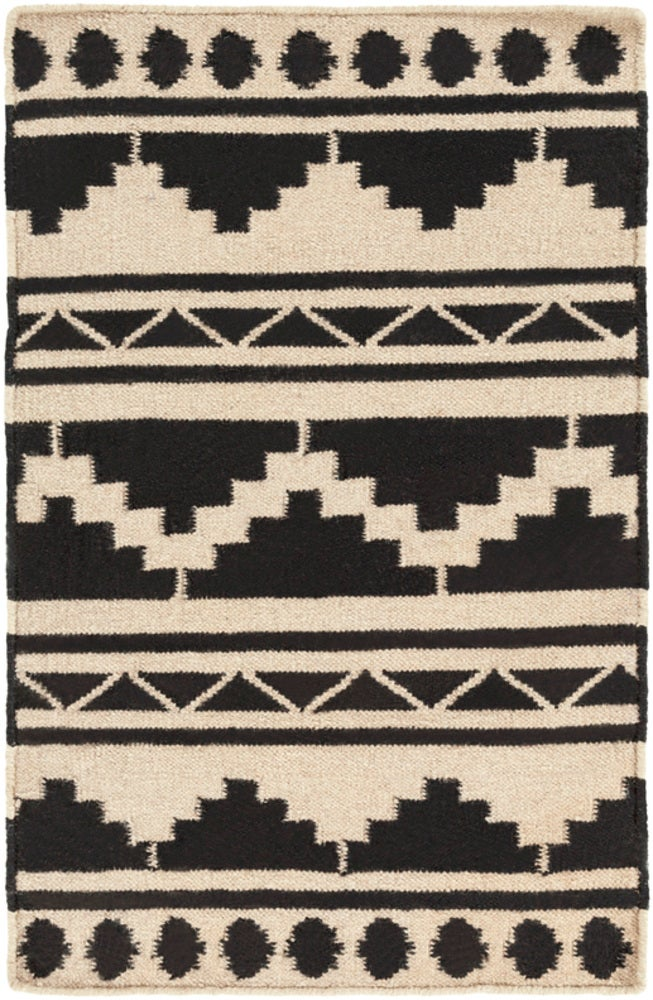 Rectangle Black Southwestern Hand Woven Wool Boho/bohemian recommended for Kitchen, Bedroom, Bathroom, Dining Room, Office, Hallway, Living Room