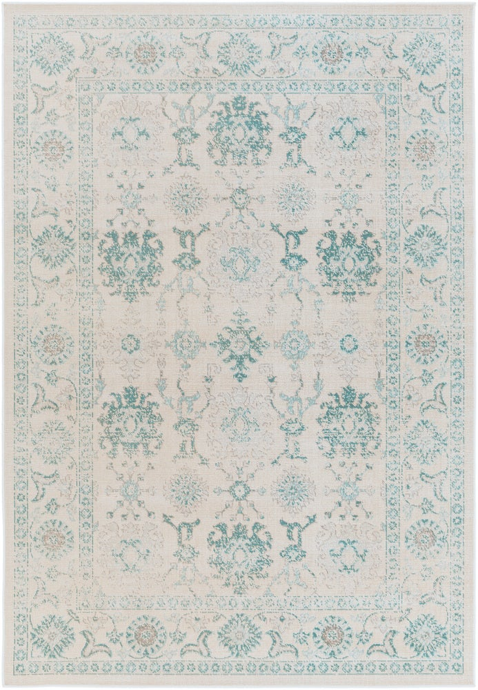 Rectangle Lightblue Medallion Machine Made Synthetics Traditional & Oriental recommended for Bedroom, Bathroom, Dining Room, Office, Hallway, Living Room