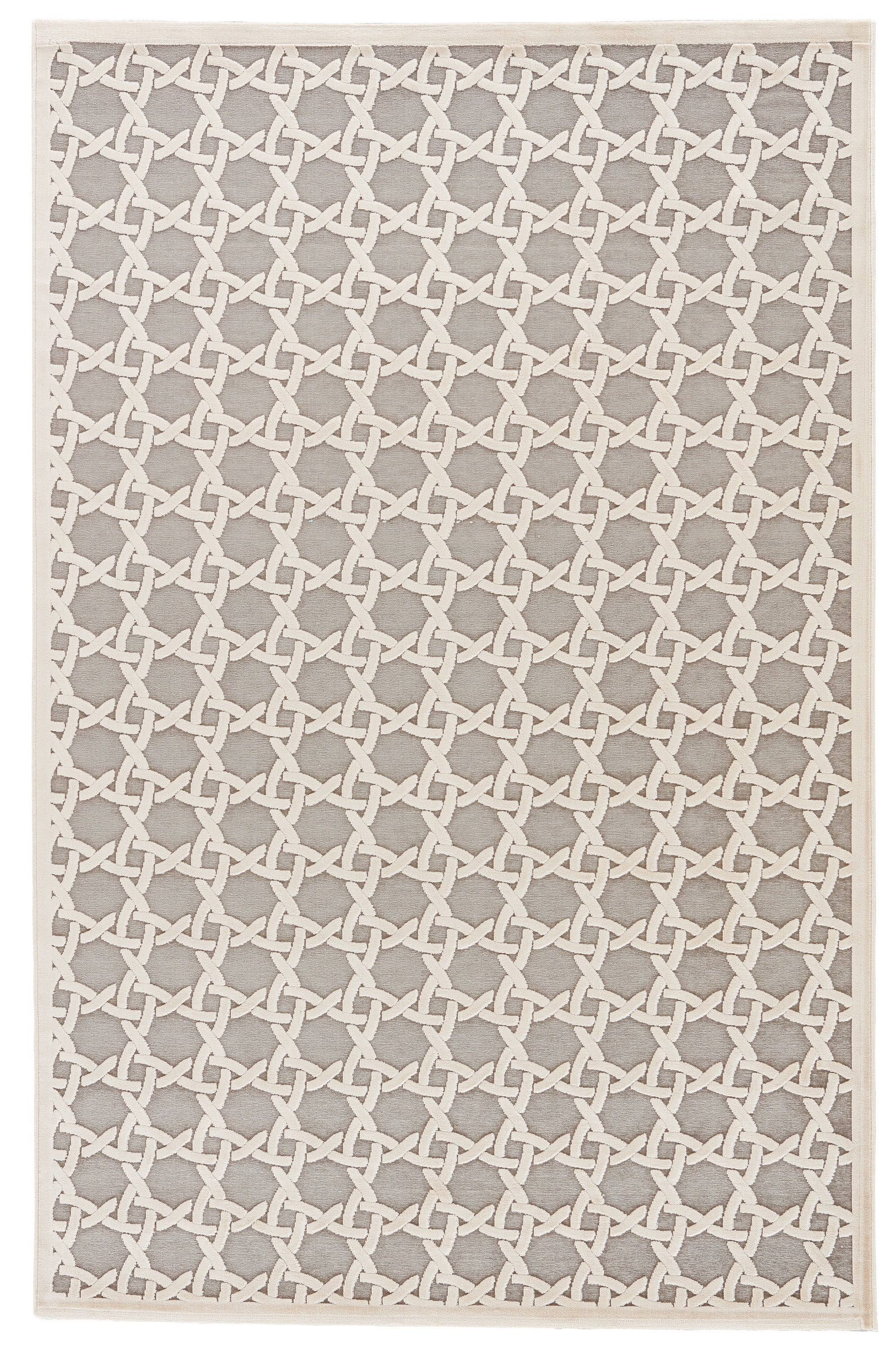 Rectangle, Square White Trellis Machine Made Synthetics Contemporary recommended for Kitchen, Bedroom, Bathroom, Dining Room, Office, Hallway, Living Room
