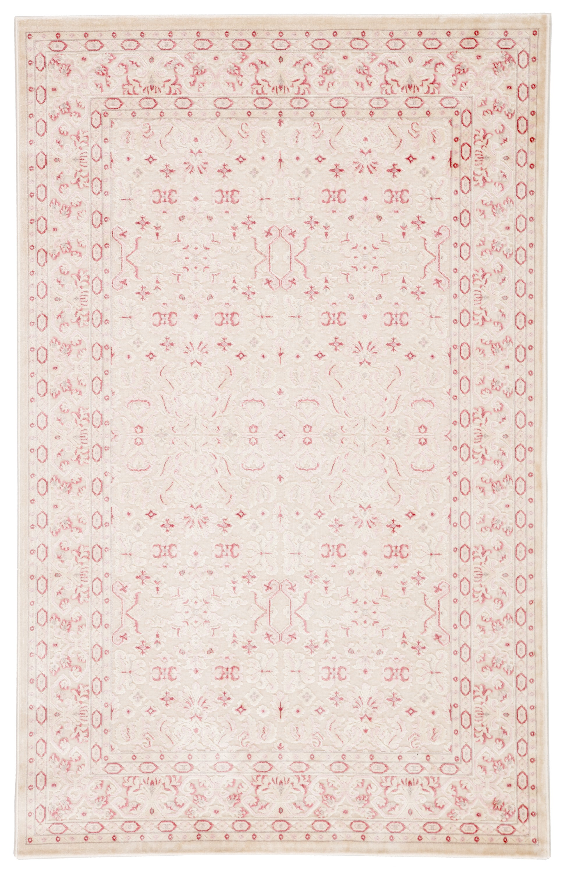Rectangle 76x96 Pink Damask Machine Made Synthetics Contemporary recommended for Kitchen, Bedroom, Bathroom, Dining Room, Office, Hallway, Living Room