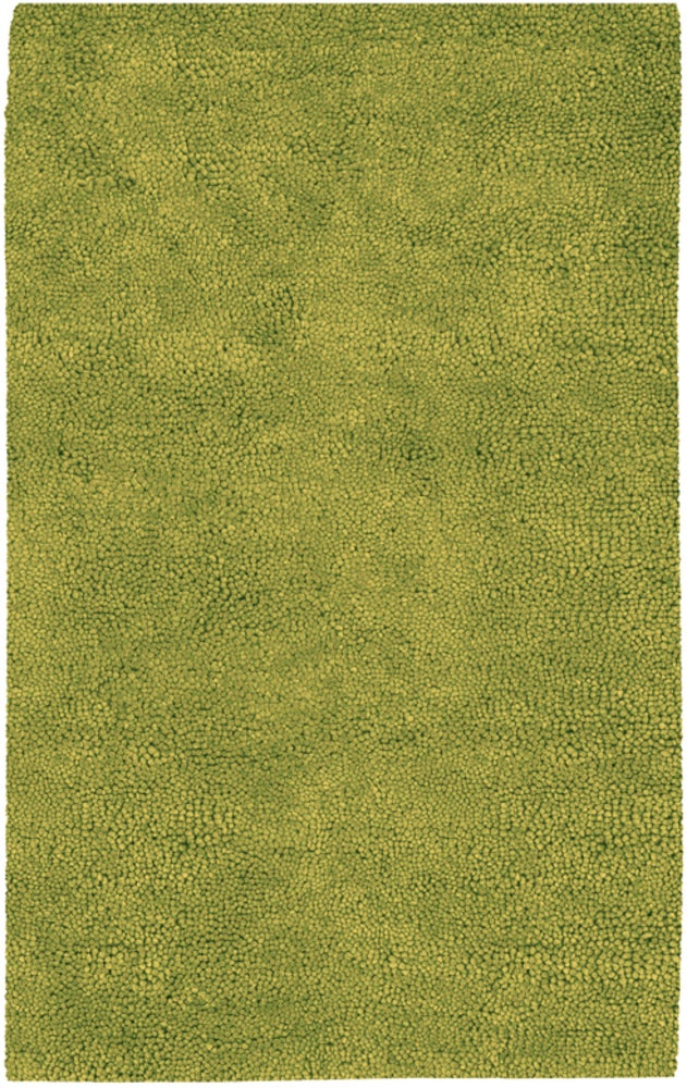Round, Rectangle, Square 5x8 Green Solid Hand Woven Wool Shag recommended for Kitchen, Bedroom, Bathroom, Dining Room, Office, Hallway, Living Room