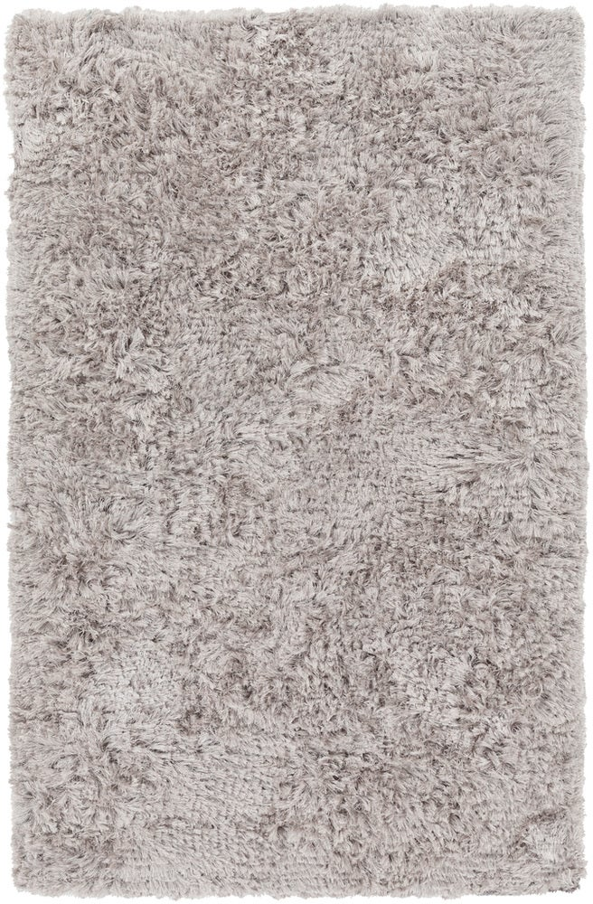 Rectangle 6x9 Lightgray Solid Hand Woven Synthetics Shag recommended for Bedroom, Bathroom, Dining Room, Office, Hallway, Living Room