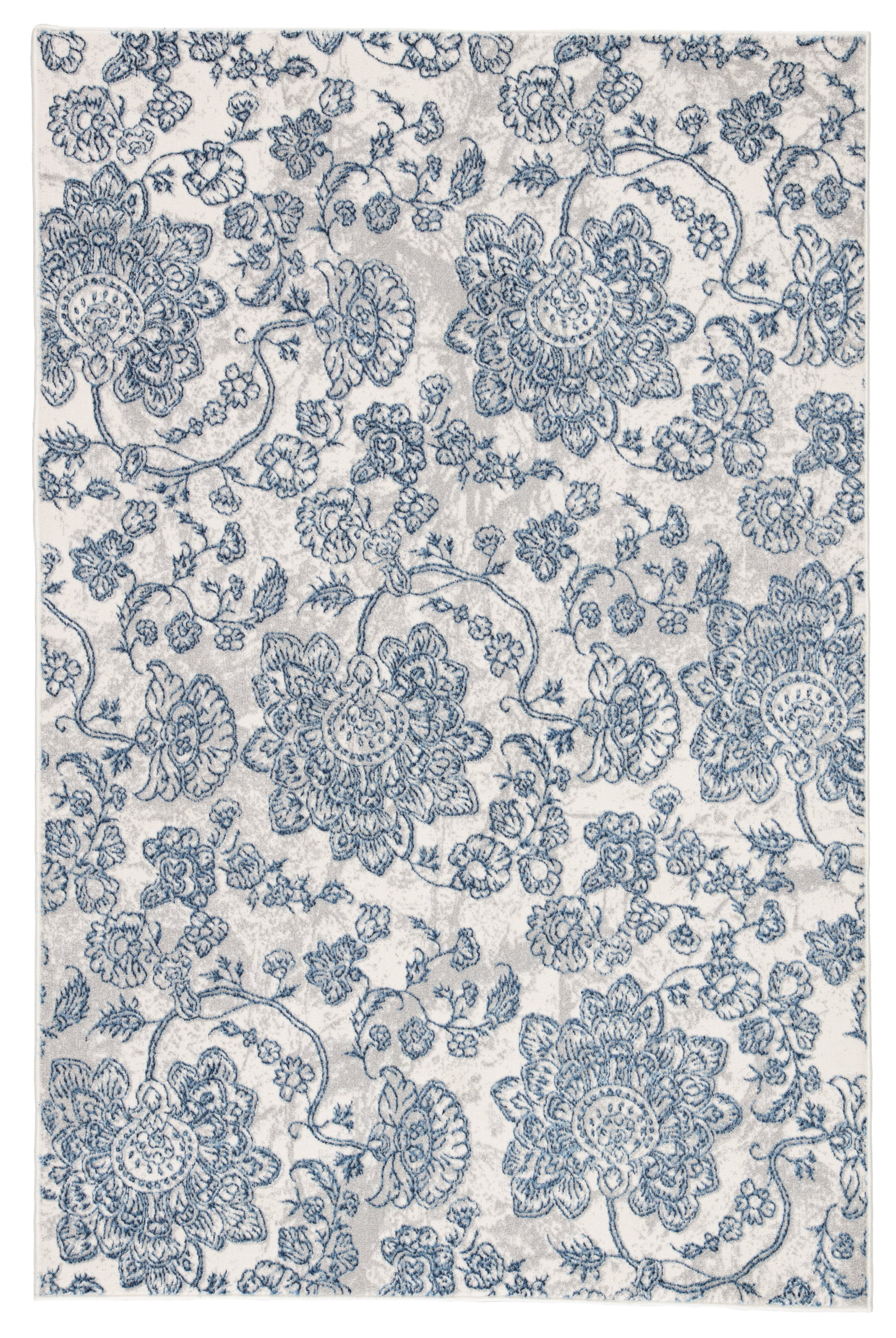 Rectangle 33x53 Blue Paisley Machine Made Synthetics Transitional recommended for Kitchen, Bedroom, Bathroom, Dining Room, Office, Hallway, Living Room