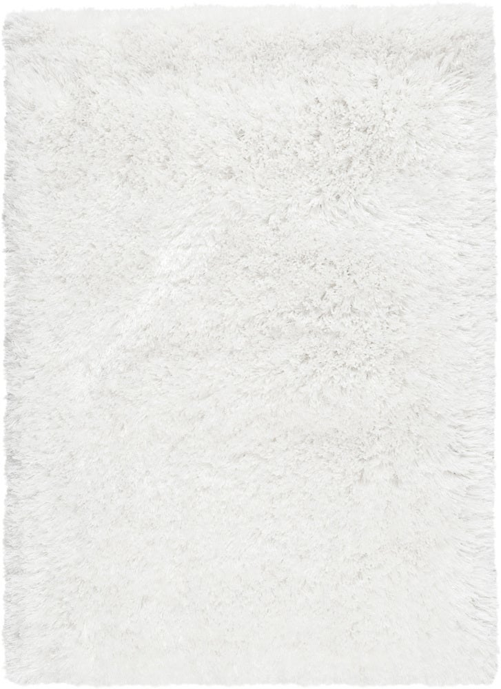 Rectangle White Solid Hand Woven Synthetics Shag recommended for Bedroom, Bathroom, Dining Room, Office, Hallway, Living Room