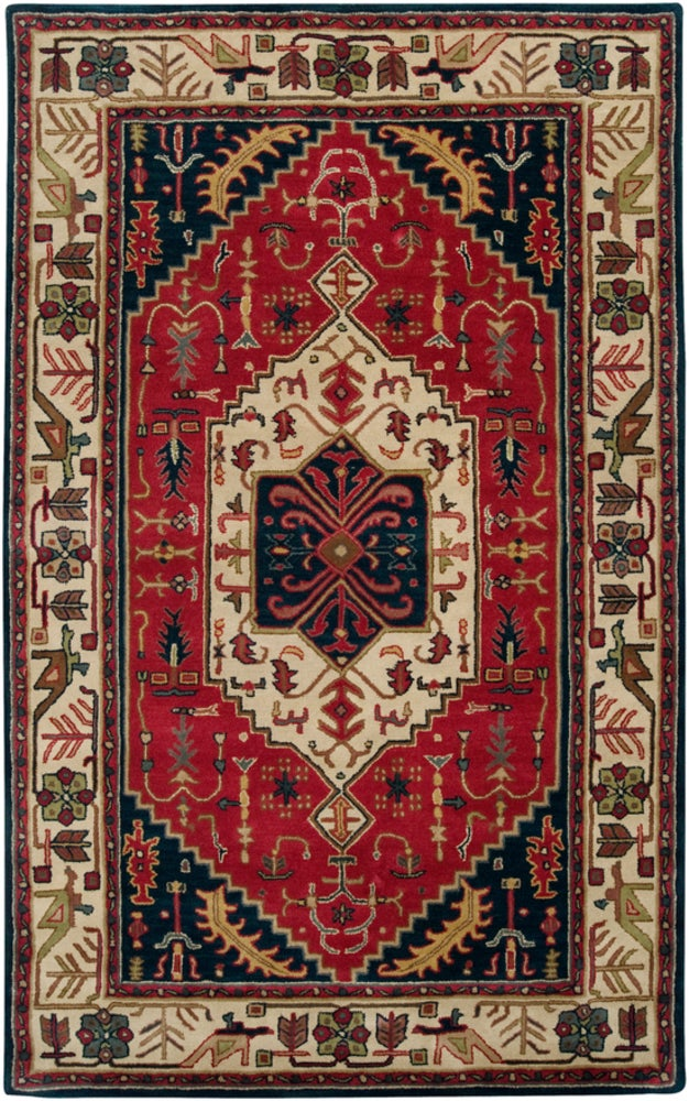 Rectangle, Round 33x53 Multicolor Traditional/oriental Hand Tufted Wool Traditional & Oriental recommended for Kitchen, Bedroom, Bathroom, Dining Room, Office, Hallway, Living Room