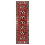 Rectangle Red Medallion Machine Made Synthetics Contemporary recommended for Kitchen, Bedroom, Bathroom, Outdoor, Dining Room, Office, Hallway, Living Room